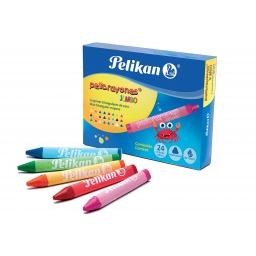 Pelikan Crayolas Jumbo Colores Surtidos x 24 Un.