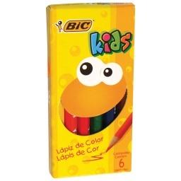 Bic Lapices de Color Kids Cortos x 6