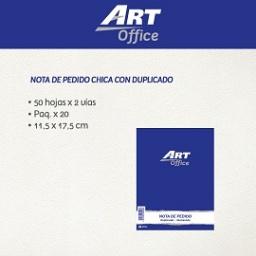 Art-Office Nota de Pedido con Duplicado Chica