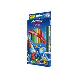 Lápices de Colores Artesco trinagulares 12 Kit