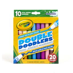 Marcadores punta doble x 20 Crayola