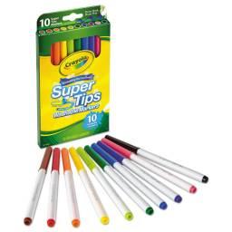Marcadores Super Tips x 10 Crayola