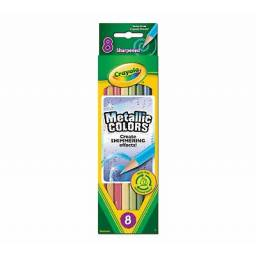 Lápices metalizados x 8 Crayola