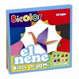Block El Nene origami bicolor