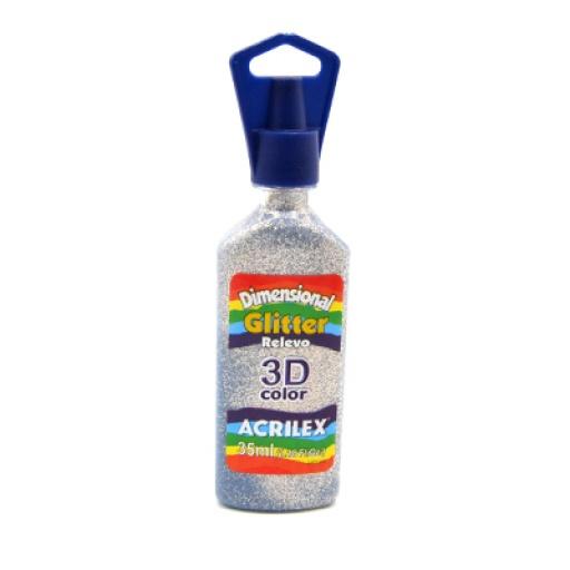 Pintura Acrilex Dimensional Glitter 35 ml.