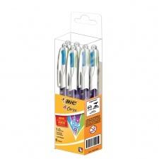 Bic Boligrafo 4 Color Grip Fashion x 6