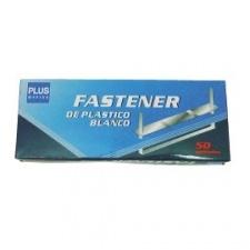Broche Acco plastico Blanco (Caja x 50 unds.)