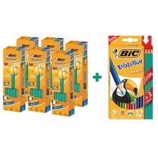 Bic Lapices Evolution HB (Promo 6+1 Color x 12)