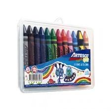 Crayones Jumbo x 12 Estuche Plastico Rigido