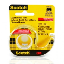 Scotch Cinta Adhesiva Doble Faz 12mm. x 6mt. con Dispensador