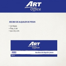 Art-Office Recibo de Alquiler Pesos