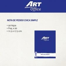 Art-Office Nota de Pedido Simple Chica