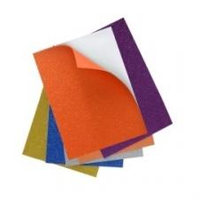 Goma Eva OMEGA Brillantina Adhesiva 60x40 (Paq x 10)