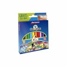 Lapices de Color Cortos x12 Tringulares