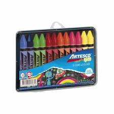 Crayones Fluo Jumbo en Estuche Rigido