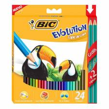 Bic Lapices Evolution Color x 24