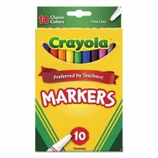 Crayola Marcadores Clásicos x 10 Delgados