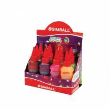 Simball Adhesivo con Glitter Display x 12