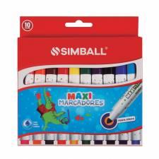 Simball Marcadores Escolares MAXI JUMBO X 10