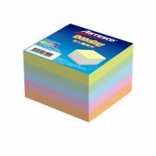 Artesco Notas Autoadhesivas 7,5x7,5 Cm.Cubo 500 hj. Pastel
