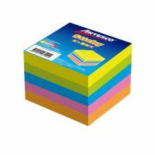 Artesco Notas Autoadhesivas 7,5x7,5 Cm.Cubo 500 hj. Neon