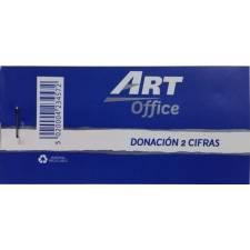 Art-Office Tiquet Donacion 2 cifras (5,3x11 Cm.)