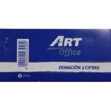 Art-Office Tiquet Donacion 3 cifras (5,3x11 Cm.)