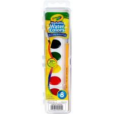 8 acuarelas + pincel Crayola