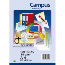 Papel Impresion Campus (100 Hojas) A4 80 grs.