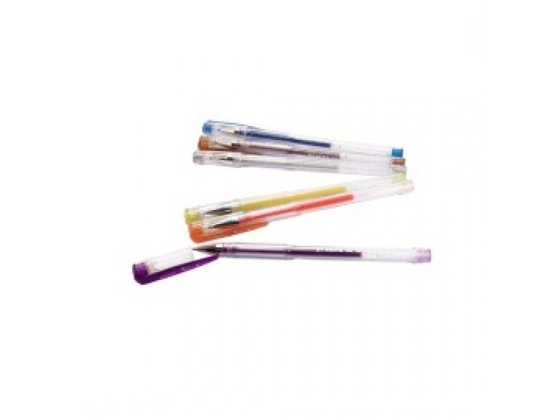 Boligrafos Gel con Glitter Caja x 12