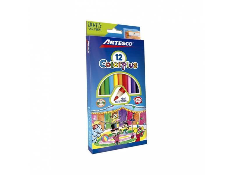 Lapices de Colores x 12 Colorplus + Sacapunta