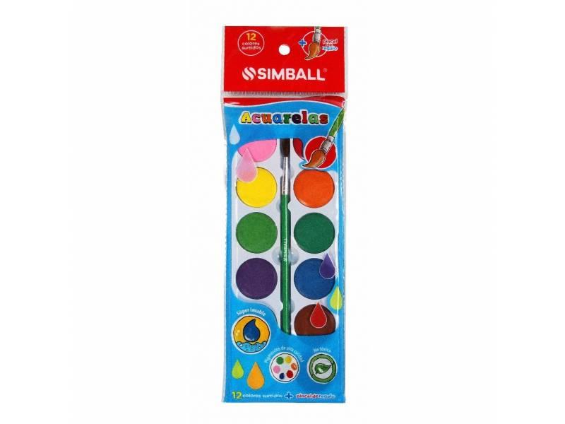 Simball Acuarelas 12 Colores