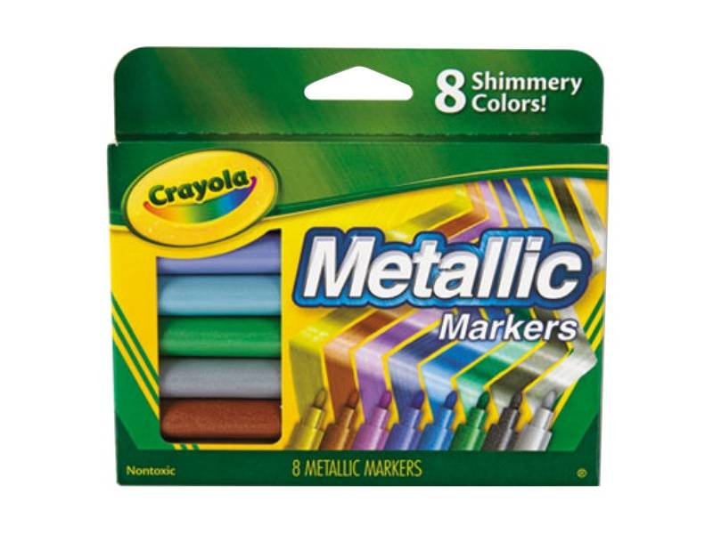 Crayola Marcadores METALIZADOS x 8
