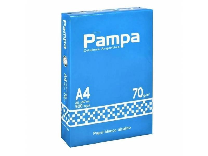 Papel impresion PAMPA 70 grs. A4